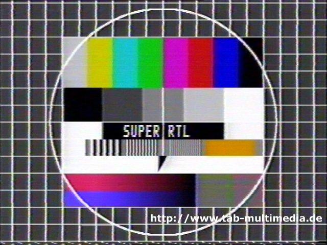 Testbild von Super RTL